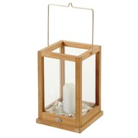 Kea lantaarn  teak/glas 25 x 40