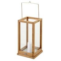 Kea lantaarn teak/glas 25 x 50
