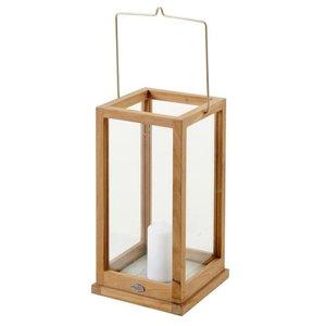 Brafab Kea lantaarn teak/glas 25 x 50