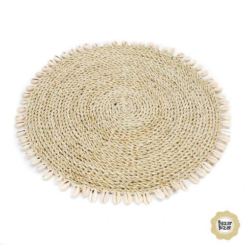 Bazar Bizar Seagrass shell placemat naturel