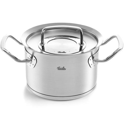 Fissler Pure Profi halfhoge kookpot met deksel inox 2.1l Ø16cm