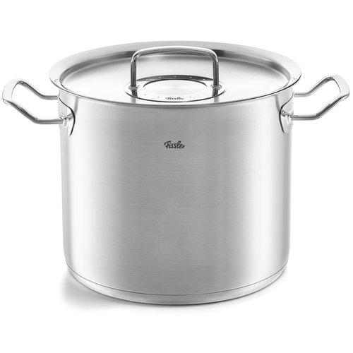 Fissler Pure Profi hoge kookpot met deksel inox 14l Ø28cm