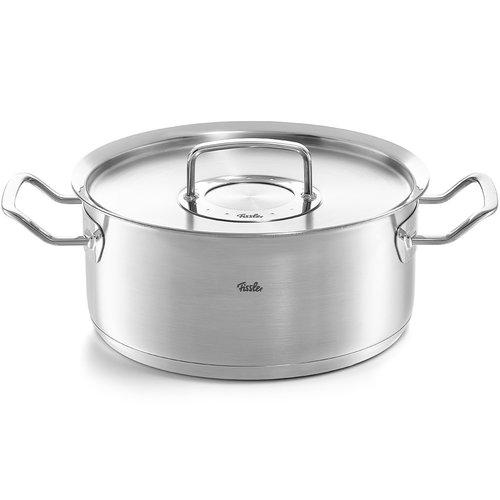 Fissler Pure Profi braadpan met deksel inox 4.6l Ø24cm
