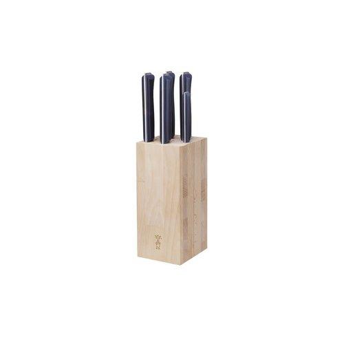 Opinel Intempora Block 5 messenblok met 5 messen beukenhout