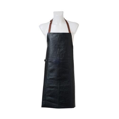 Zassenhaus Keukenschort zwart leder