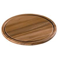 Kaas- en steakbord acacia hout Ø 30 cm