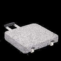 Granietvoet Z met rollen 40 kg 45 × 45