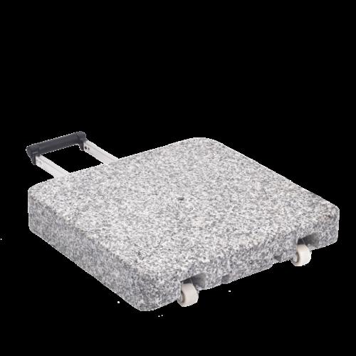 Glatz Parasolvoet graniet Z met rollen 40 kg 45 × 45