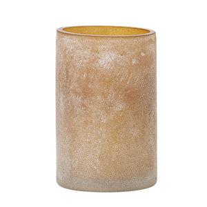 Bloomingville Macha theelichthouder bruin glas