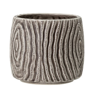 Bloomingville Hena bloempot grijs keramiek