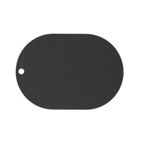 OYOY Living Design Ribbo placemat zwart  set van 2