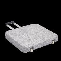 Parasolvoet graniet Z met rollen 55 kg 55 × 55