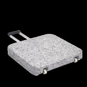 Glatz Granietvoet Z met rollen 55 kg 55 × 55