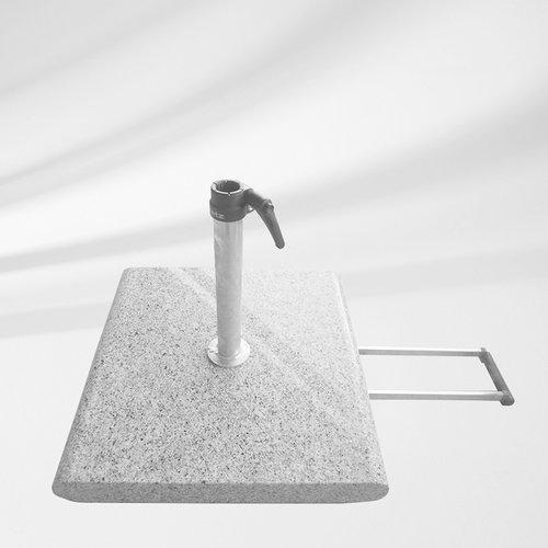 Glatz Parasolvoet graniet Z met rollen 55 kg 55 × 55
