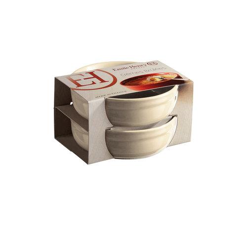 Emile Henry Ramekin crème brûlée charcoal Ø12cm - set van 2