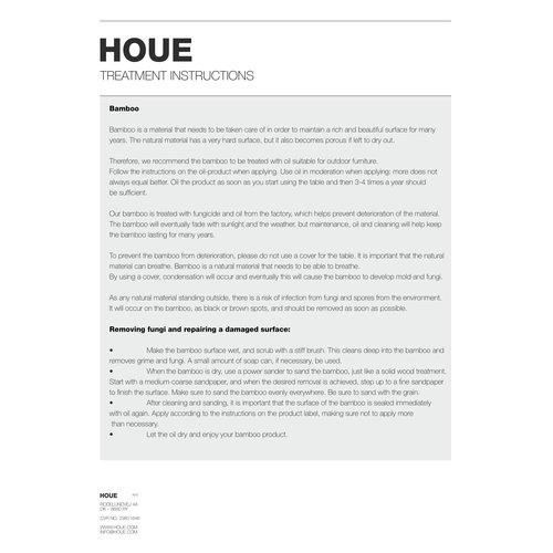 Houe Circum cafétafel zwart metaal/bamboe Ø 74