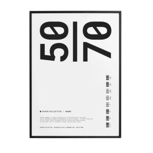 Paper Collective PC kader zwart hout 50 x 70 cm