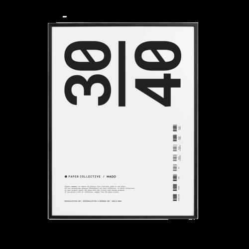 Paper Collective PC kader zwart hout 30 x 40 cm
