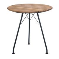 Circum cafétafel zwart metaal/bamboe Ø 74
