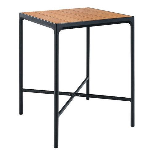 Houe Four bartafel bamboe/zwart aluminium 90 x 90 cm