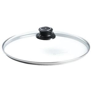 Swiss Diamond Deksel voor XD koekenpan glas/kunststof  Ø 28 cm