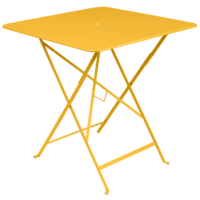Bistro inklapbare tuintafel honing metaal 71 x 71 cm