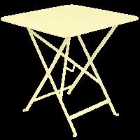 Bistro inklapbare tuintafel citroengeel metaal 71 x 71 cm