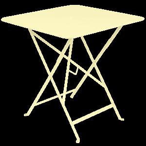 Fermob Bistro inklapbare tuintafel citroengeel metaal 71 x 71 cm