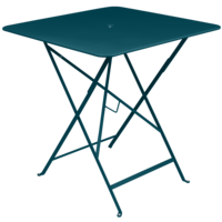 Bistro inklapbare tuintafel acapulco blauw metaal 71 x 71 cm