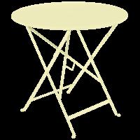 Bistro inklapbare tuintafel D77 citroen metaal Ø 77 cm