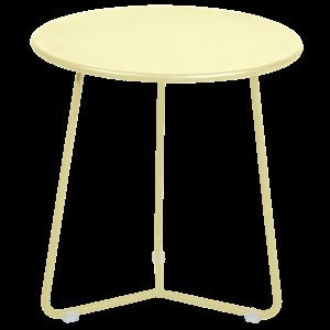 Fermob Cocotte bijzettafel citroengeel metaal Ø 34,5 x H 36 cm