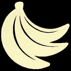 Fermob Onderzetter banaan citroengeel staal 23 x 24,4 cm