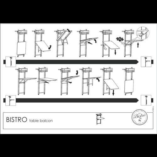 Fermob Bistro balkontafel honing metaal 57 x 77 cm