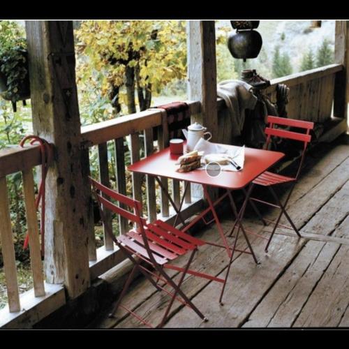 Fermob Bistro inklapbare tuinstoel rode oker metaal - set van 2