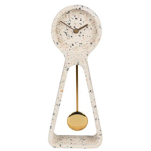 Zuiver Pendulum Time tafelklok witte terrazzo
