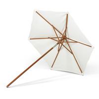 Messina parasol wit/meranti rond