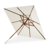 Messina parasol wit/meranti vierkant