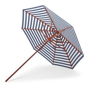Skagerak Messina parasol blauwe strepen Ø270