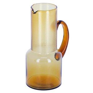 Kave Home Nausica waterkan oranje glas