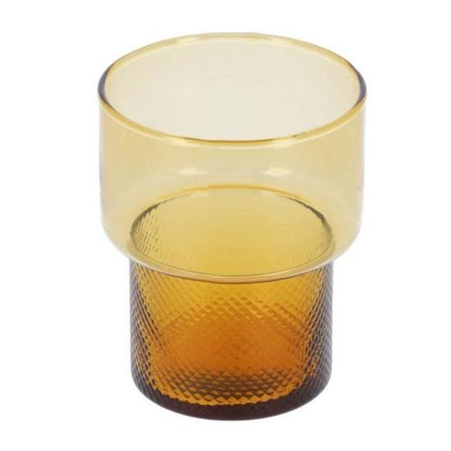 Kave Home Nausica klein oranje waterglas