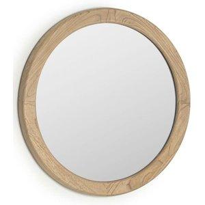 Kave Home Alum ronde spiegel mindi hout Ø 50