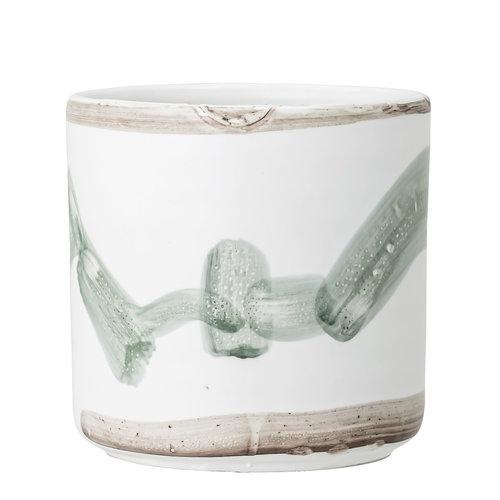 Bloomingville Deco bloempot wit terracotta