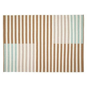 Kave Home Aien tapijt meerkleurig gestreept pet 160 x 230