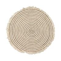 Gisel rond tapijt jute en katoen Ø 120