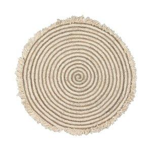 Kave Home Gisel rond tapijt jute en katoen Ø 120