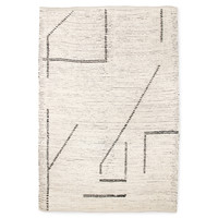 Handgeweven katoenen tapijt cream/charcoal 200 x 300