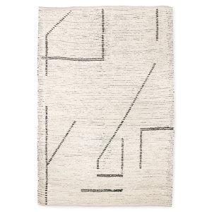 HK Living Handgeweven katoenen tapijt cream/charcoal 200 x 300