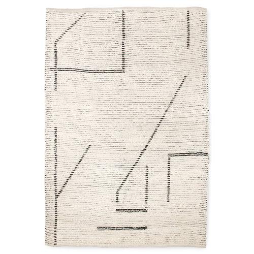 HK Living Handgeweven katoenen tapijt cream/charcoal 200x300