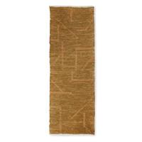Handgeweven katoenen tapijt mustard/honey 70 x 200