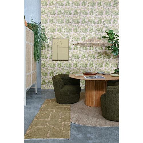 HK Living Handgeweven katoenen tapijt mustard/honey 70 x 200